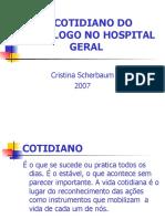 Cotidiano psicologo hospitalar