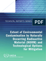 Extent of Enviromental Contamination by Norm and Technological Option for Mitigation