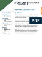 Informatica PowerCenter 9. Developer I Training Data Sheet