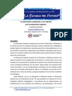 Bolaños, I. La Educación a Distancia, y Su Relación Con La Ed. Superior