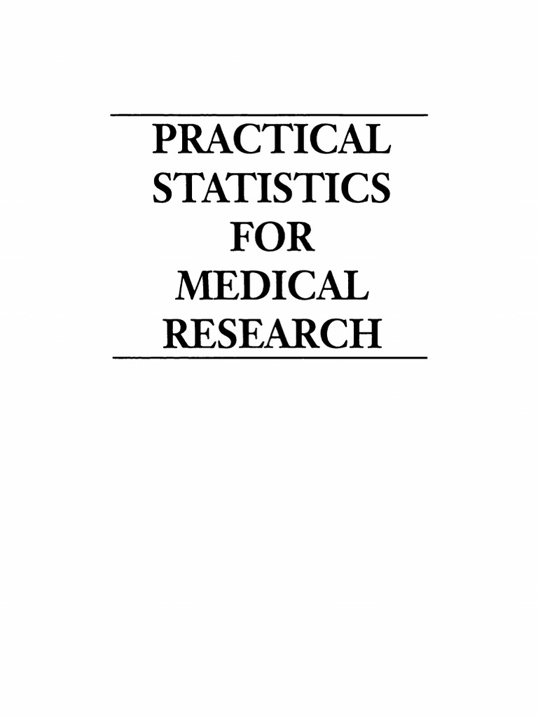 Douglas g altman practical statistics for medical research douglas g altman practical statistics for medical research chapman hallcrc 1991 fandeluxe Images