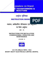 BHEL Instruction Manual on PoweTransformeEnglish