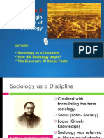 Origin of Sociology
