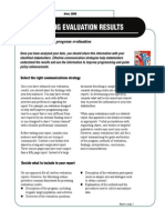 Evaluation Results - TipsEvaluation Issue 14, Fact Sheet