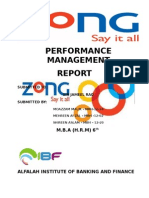 Term Report of ZONG Performance Management