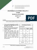 Percubaan UPSR 2015 - Kelantan 2 - BI Kertas 2