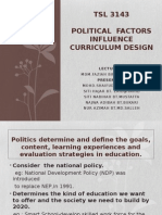 Political  Factors Influence Curriculum Design.pptx