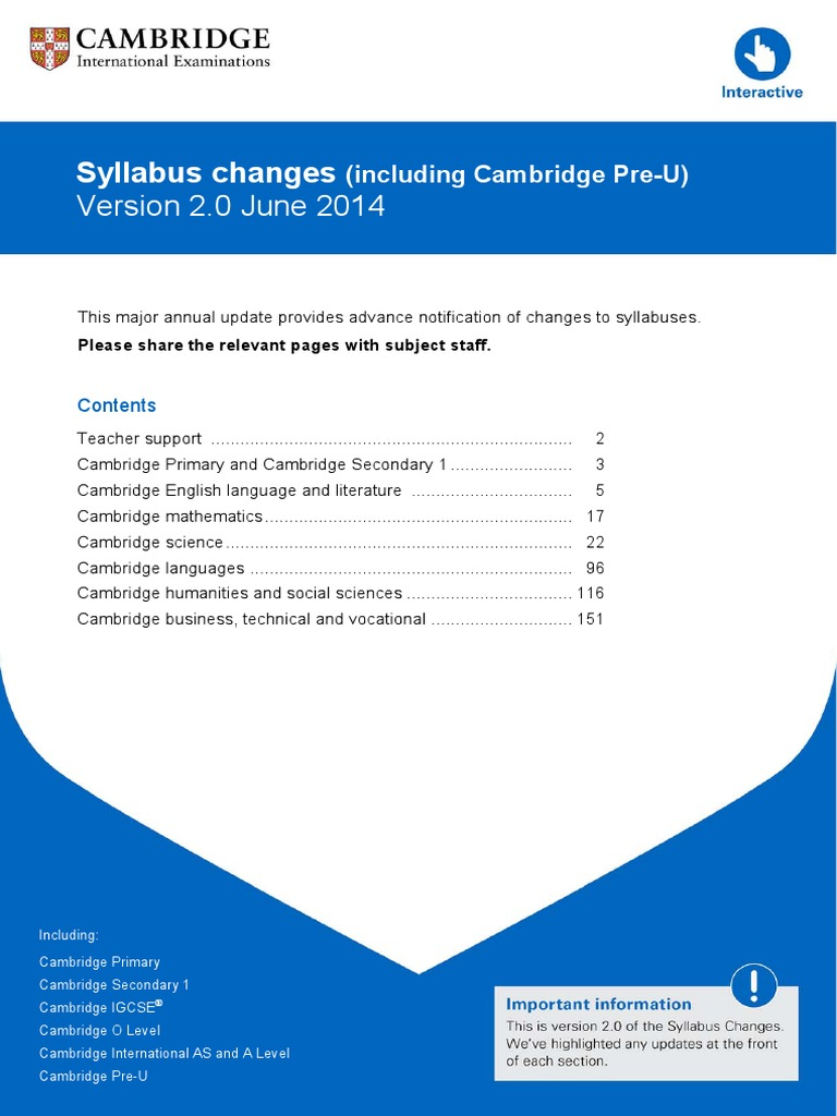 172049 Syllabus Changes 2014 Including Cambridge Pre U Version 2 Printable Maslow39s Pyramid Diagram Hierarchy Of Needs Chart Osmosis Cell Biology
