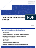 Moody's China's Core Shadow Banking Activity Continues to Slow Aug 2015