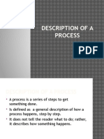 Description of a Process