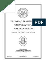 Przegląd Prawniczy Uniwersytetu Warszawskiego nr 3-4/2013