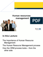 MGMT1001 Topic 8 - Human Resources Management