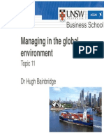 MGMT1001 Topic 11 - International Business
