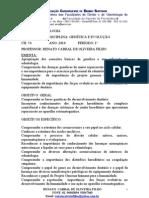EMENTA DE 2010.1 (Prof. Renato Cabral)