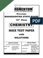 Maharashtra State Board 12thChemistry Mock Test Paper Sol