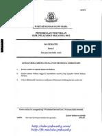 Trial MRSM SPM 2012 Maths [D94FAE70]