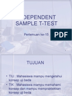 Pertemuan Ke-15 Independent Sample T-test