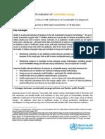2012 Indicators_energy Sostenible 2 OMS