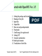 Tutorial Openmx3.5
