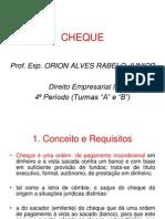 CHEQUE Titulo de Credito