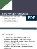 Procesos de Extraccion y Lixiviación