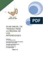 Plan Anual de Trabajo Para La Mejora de Los Aprendizajes Icho 2014 v2