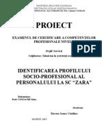 Atestat Identificarea profilului socio-profesional al personalului la SC ZARA