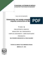 Outsourcing Ventaja Competitiva Empresa Constructora México