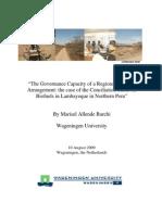 """The Governance Capacity of a Regional Biofuels"