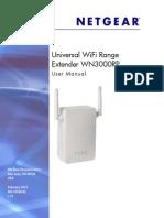 Netgear WN3000RP User Manual