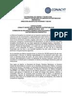 Convocatoria CONACYT-SENER Sustentabilidad 2015 -1ok