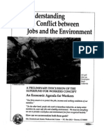 Understanding the conflict between Jobs and the Environment (OCAW Just Transition)