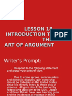 Introduction to the Art of Argument