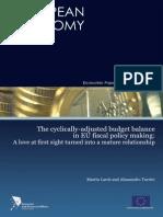 1 EC 274 Cyclically-Adjusted Budget (2009)