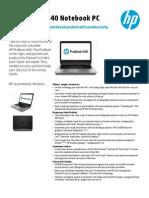 US CA English HP ProBook 640 Datasheet