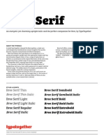 Bree Serif Specimen