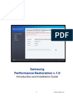 Samsung Performance Restoration v.1.0 Installation Guide