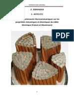 Effets Des Traitements Thermiques Sur Les Proprietes Du Cable Electrique