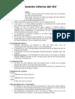 Reglamento Interno Del IEV - 2014