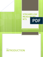 Streamflow Measurements