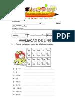 Avaliação de Língua Portuguesa Recuperação