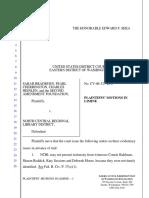 Bradburn et al v. North Central Regional Library District - Document No. 77
