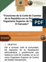 Funiones de la Corte de Cuentas.