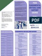 Triptico FCCS Course Medicos