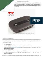 Huawei EC5321 Unlock (Free Unlock Codes)