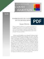 maritain - posibilidad de cooperar en un mundo dividido