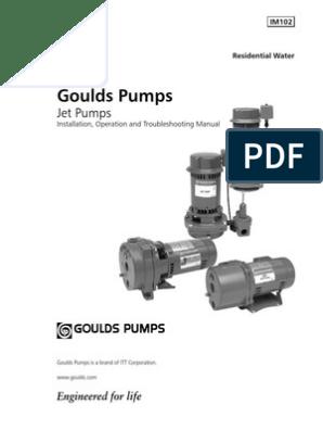 Goulds Pump Manual | Pump | Pipe (Fluid Conveyance)