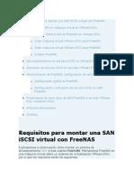 Configuracion FreeNas