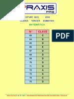 Claves Area a Sumativo III 2015-2016 Matemática