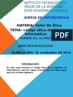 125 Codigo Etico Del Ing. Informatica